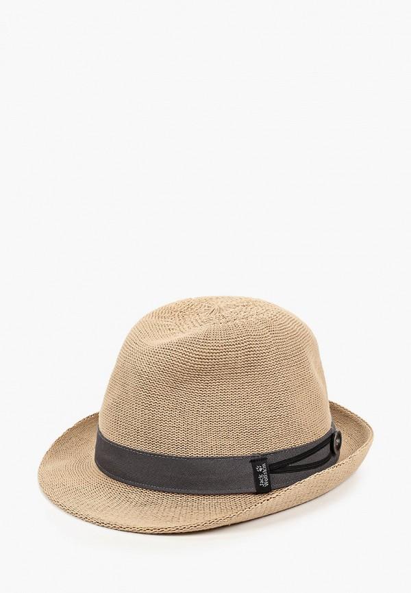 женская шляпа jack wolfskin, бежевая