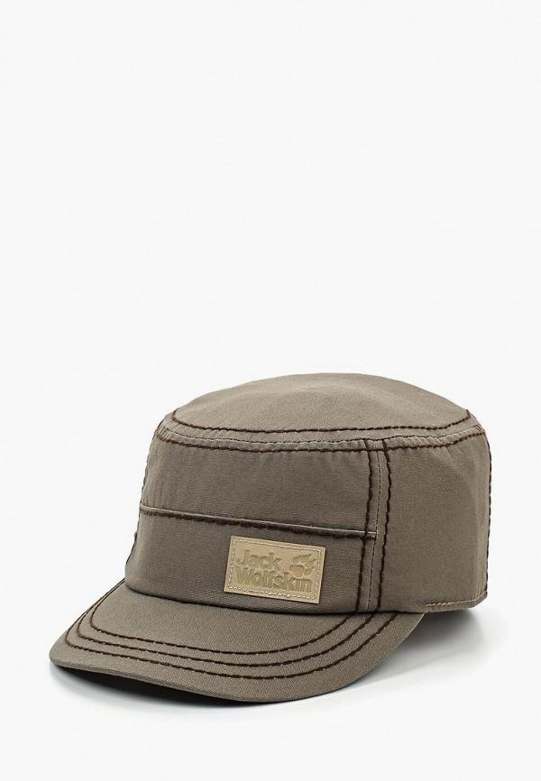 женская кепка jack wolfskin, коричневая