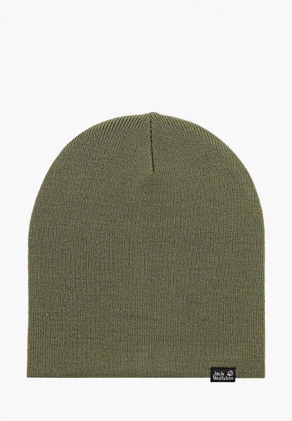 Купить Шапка Jack Wolfskin, RIB HAT, ja021cuwha76, хаки, Осень-зима 2018/2019