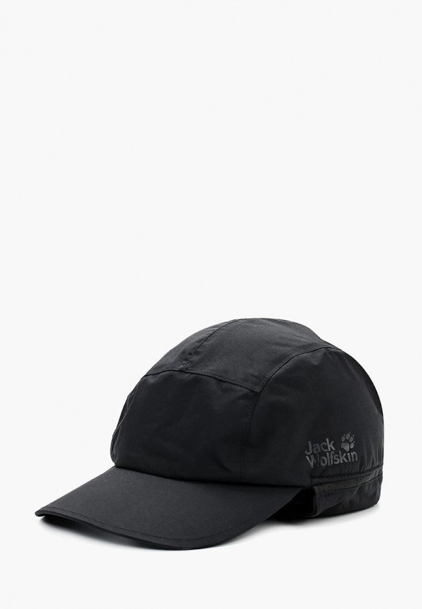 женская кепка jack wolfskin, черная