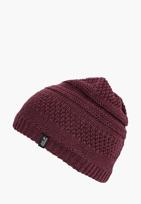Купить Шапка Jack Wolfskin, WHITE ROCK CAP WOMEN, JA021CWCOET9, бордовый, Осень-зима 2018/2019
