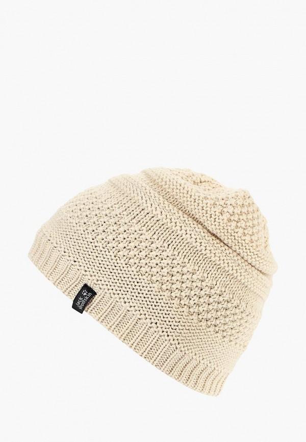 Купить Шапка Jack Wolfskin, WHITE ROCK CAP WOMEN, JA021CWCOEU0, бежевый, Осень-зима 2018/2019