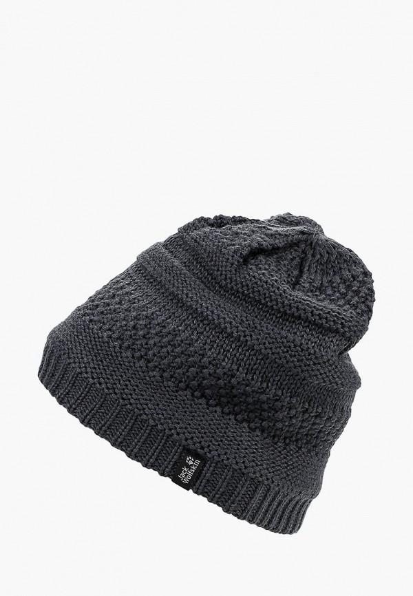 Купить Шапка Jack Wolfskin, WHITE ROCK CAP WOMEN, JA021CWCOFO1, серый, Осень-зима 2018/2019