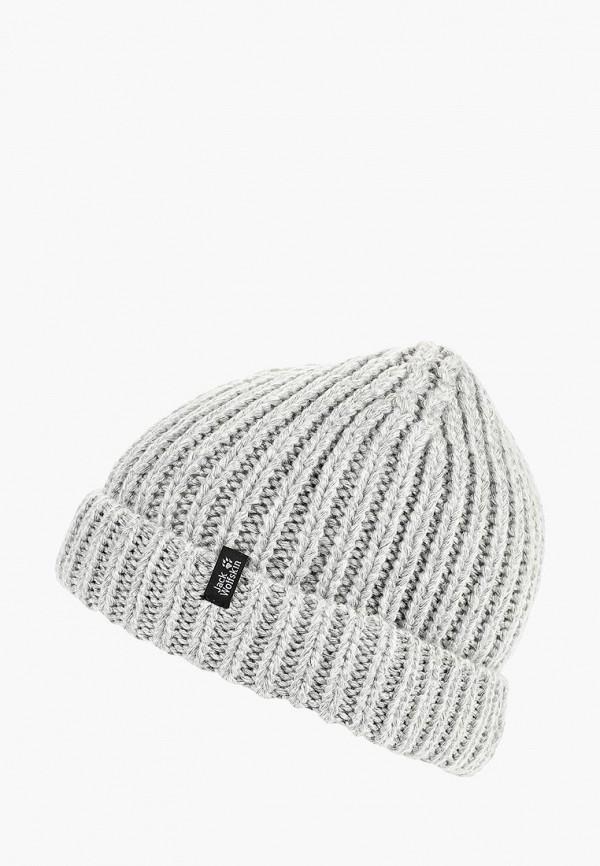 Купить Шапка Jack Wolfskin, WINTERTIDE CAP WOMEN, JA021CWCOFO2, серый, Осень-зима 2018/2019