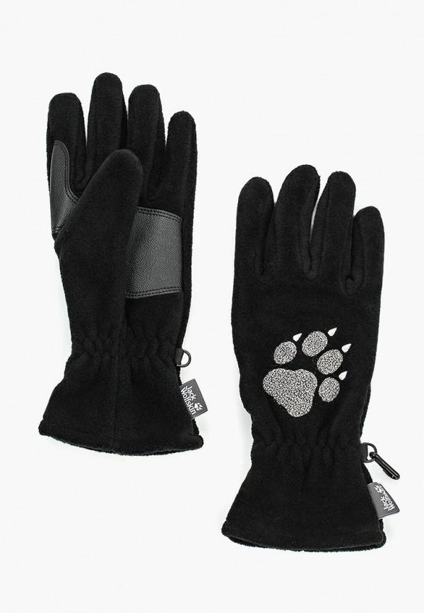 женские перчатки jack wolfskin, черные