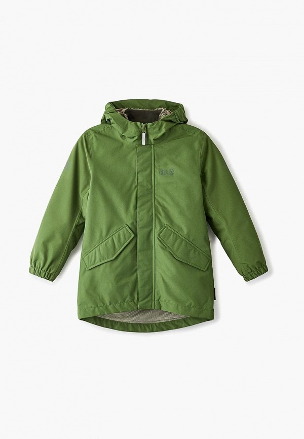 куртка jack wolfskin для мальчика, зеленая