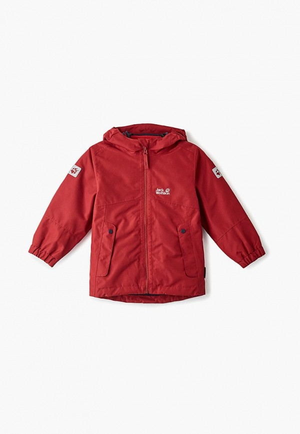 куртка jack wolfskin для девочки, бордовая