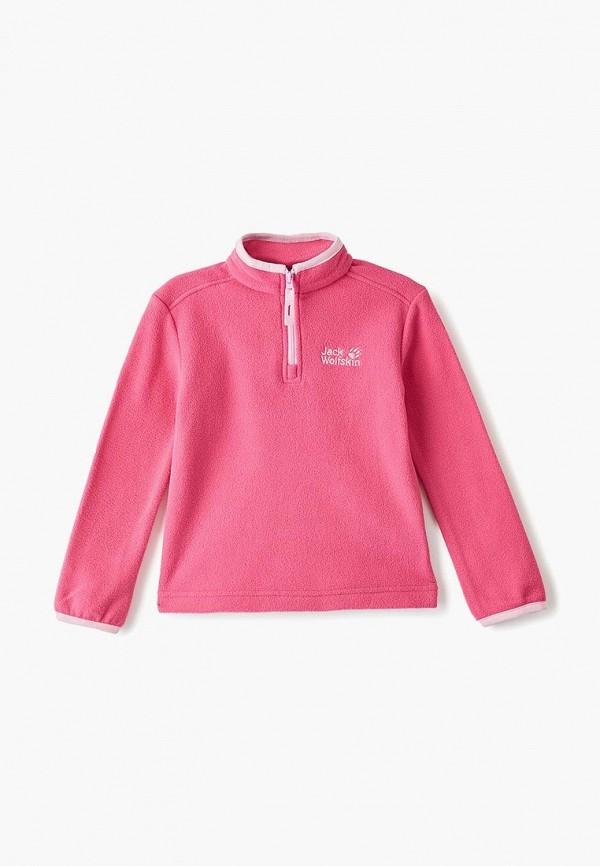 олимпийка jack wolfskin для девочки, розовая