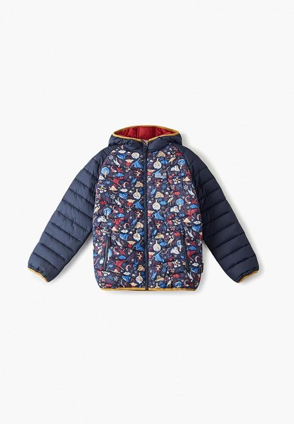 куртка jack wolfskin для девочки, синяя