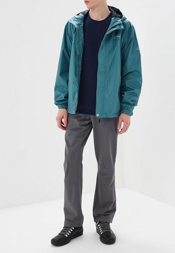 Фото 2 - мужские брюки Jack Wolfskin серого цвета