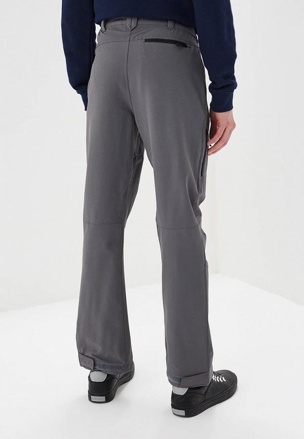 Фото 3 - мужские брюки Jack Wolfskin серого цвета