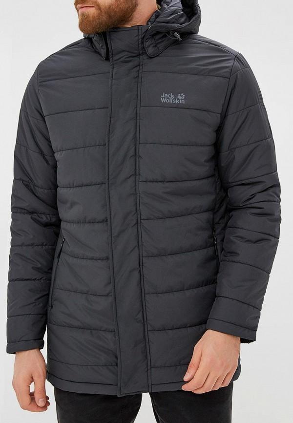мужская куртка jack wolfskin, черная