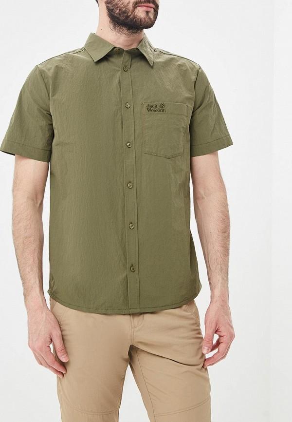 мужская рубашка jack wolfskin, хаки