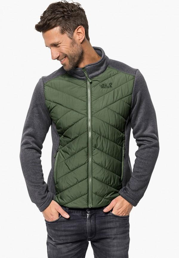мужская куртка jack wolfskin, разноцветная