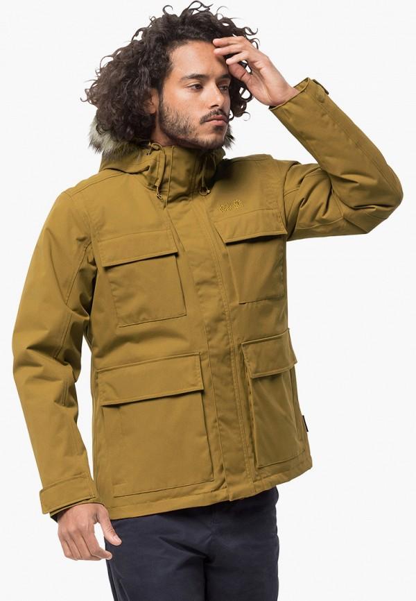 Фото - Куртку утепленная Jack Wolfskin коричневого цвета