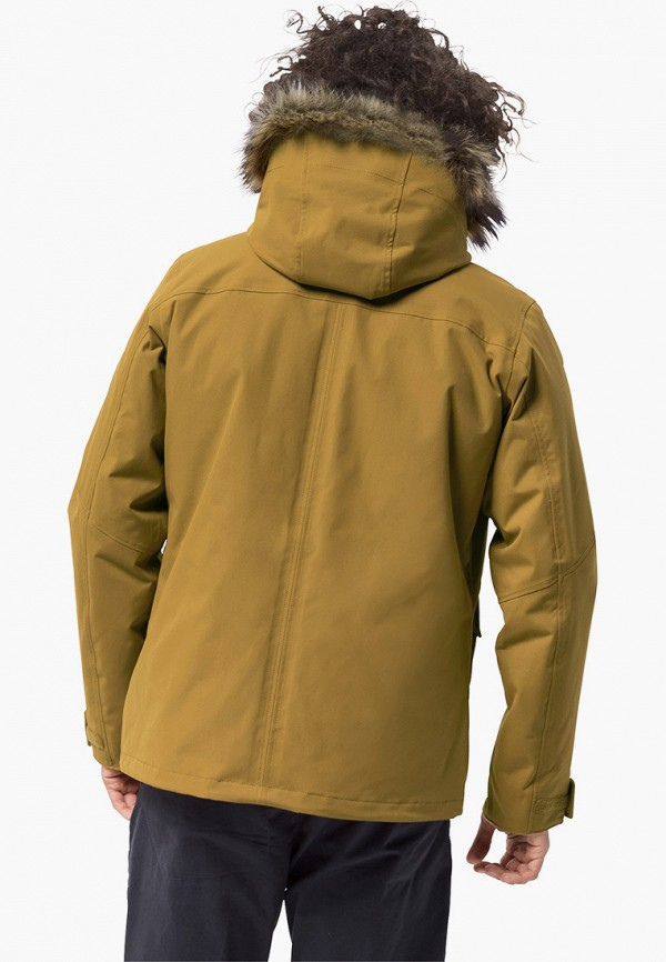 Фото 2 - Куртку утепленная Jack Wolfskin коричневого цвета