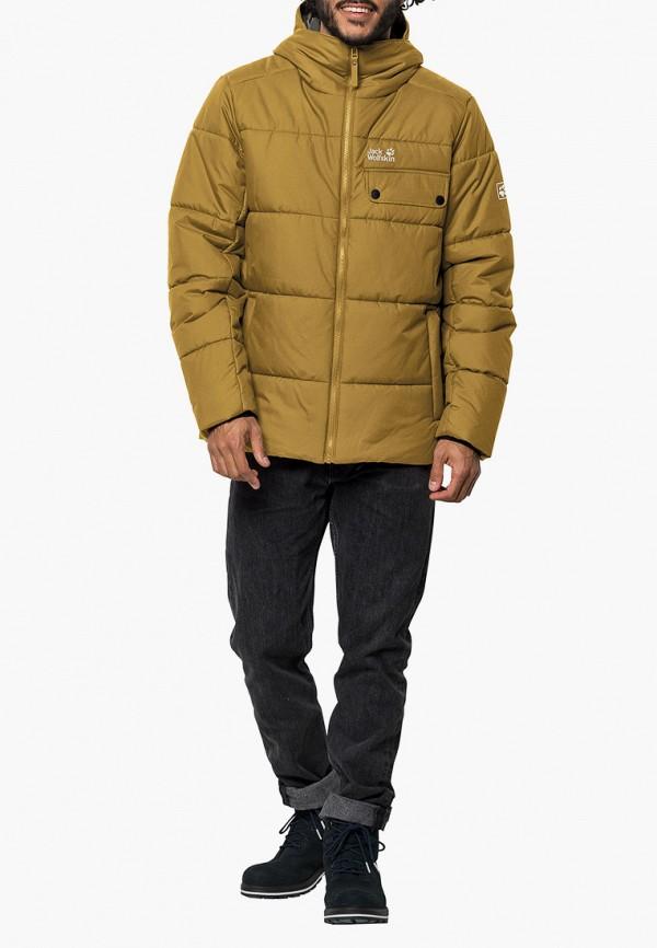 мужская куртка jack wolfskin, желтая