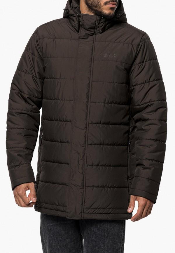 мужская куртка jack wolfskin, коричневая