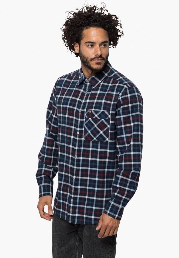 мужская спортивные рубашка jack wolfskin, синяя