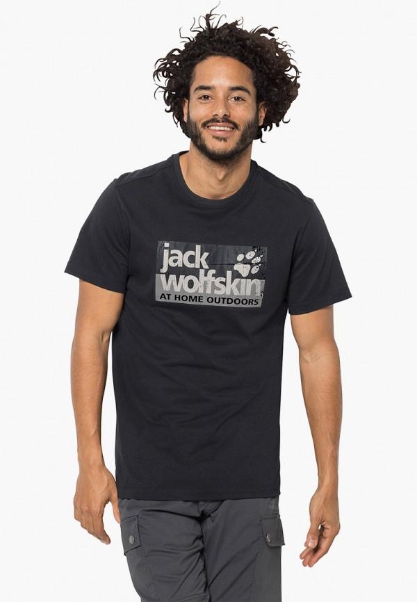 мужская спортивные футболка jack wolfskin, черная