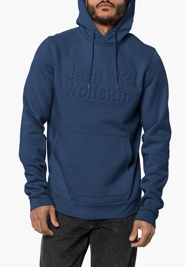 мужские худи jack wolfskin, синие