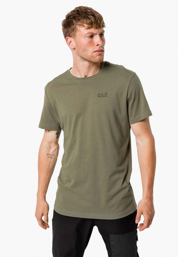 мужская спортивные футболка jack wolfskin, хаки