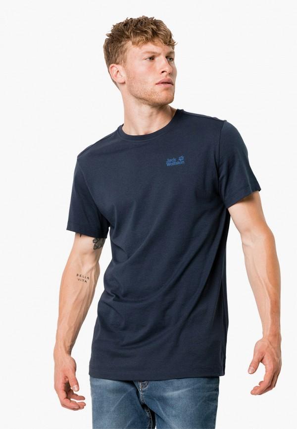 мужская спортивные футболка jack wolfskin, синяя