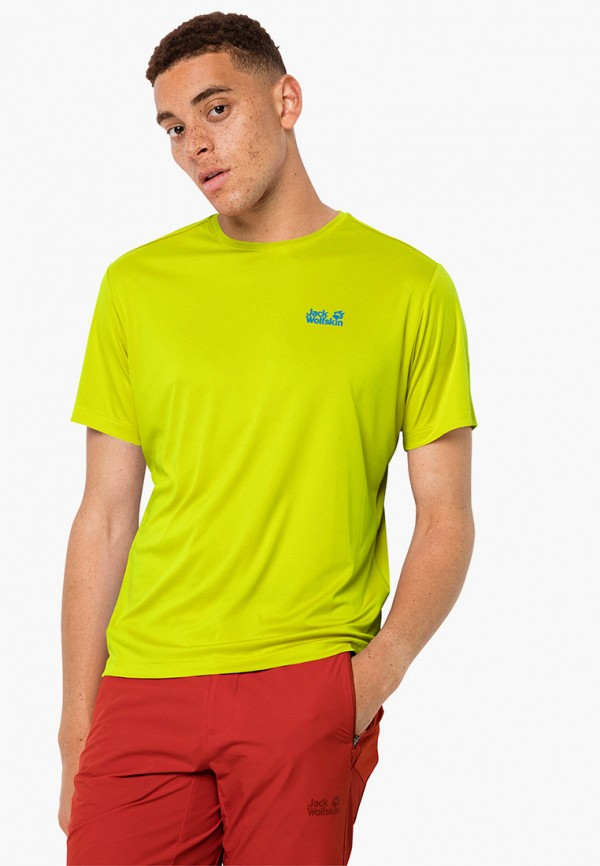 мужская спортивные футболка jack wolfskin, желтая