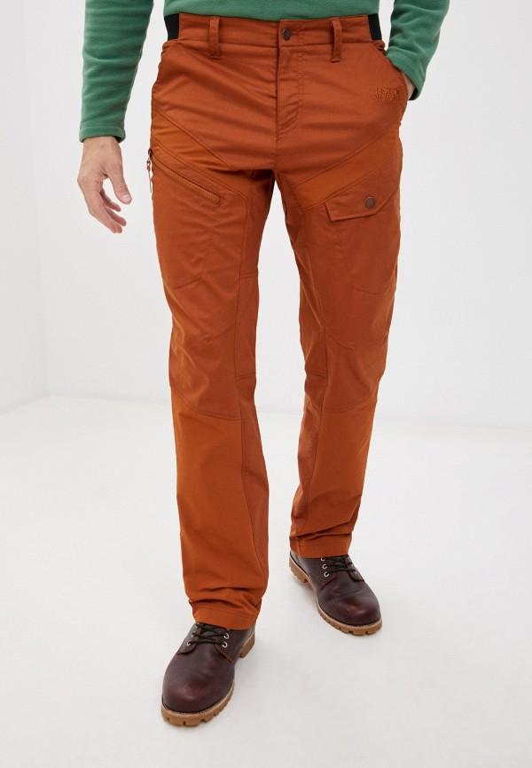 мужские брюки jack wolfskin, коричневые