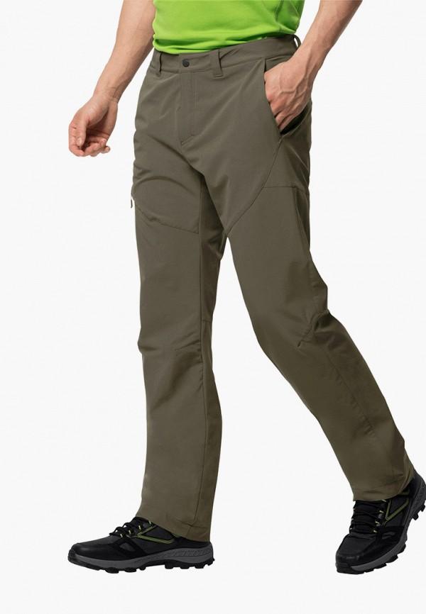 мужские брюки jack wolfskin, серые