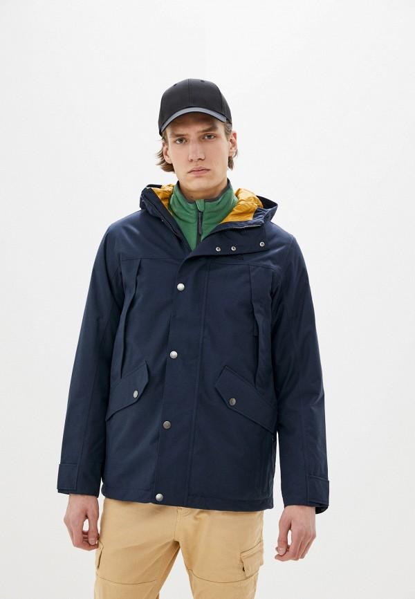 мужская куртка jack wolfskin, синяя