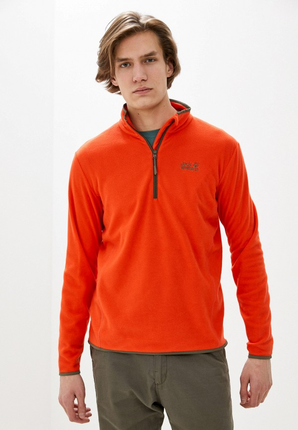 мужская олимпийка jack wolfskin, оранжевая