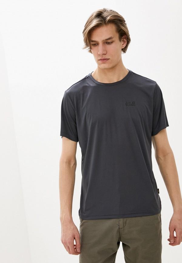 мужская спортивные футболка jack wolfskin, серая