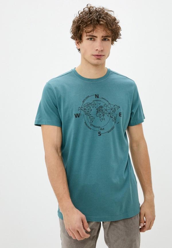 мужская спортивные футболка jack wolfskin, бирюзовая