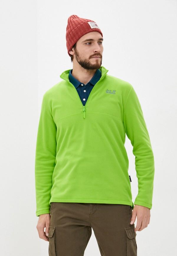 мужская олимпийка jack wolfskin, зеленая