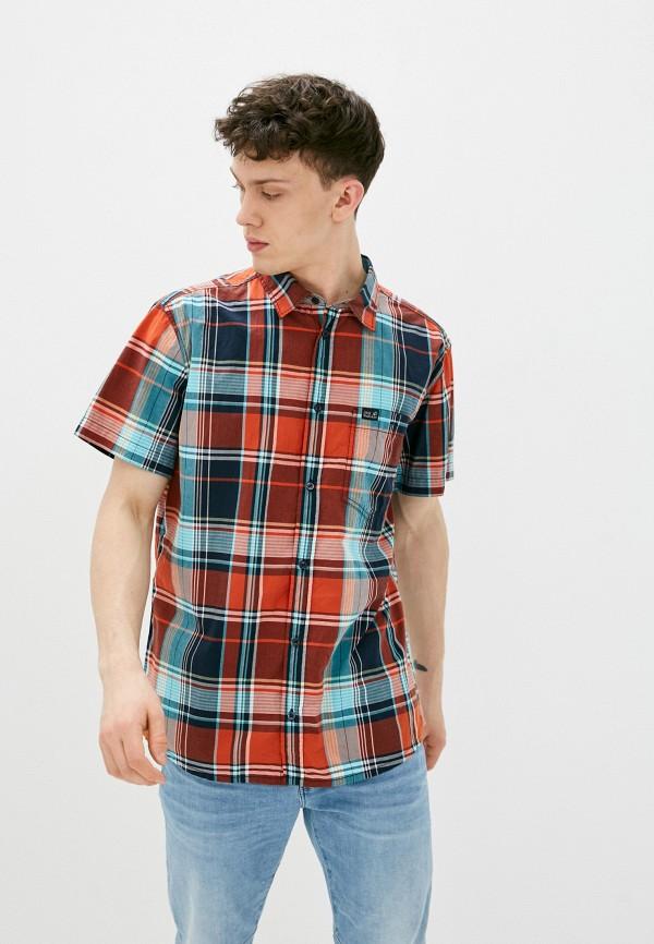 мужская рубашка jack wolfskin, красная