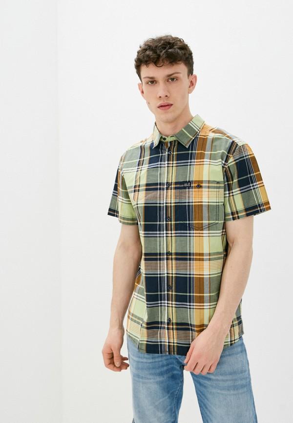 мужская рубашка jack wolfskin, зеленая