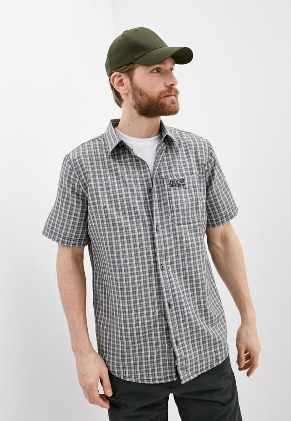 мужская рубашка jack wolfskin, серая