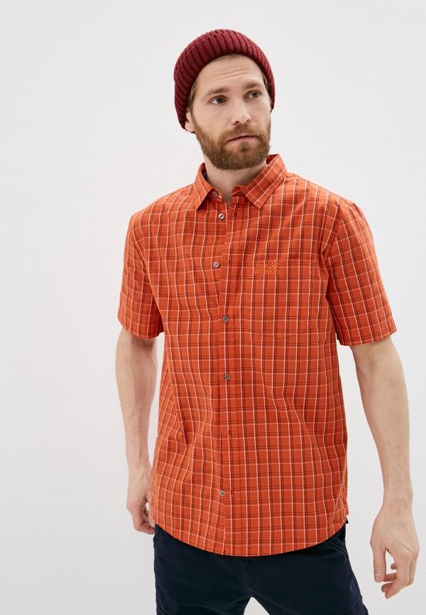мужская рубашка jack wolfskin, оранжевая