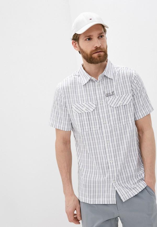 мужская рубашка jack wolfskin, белая