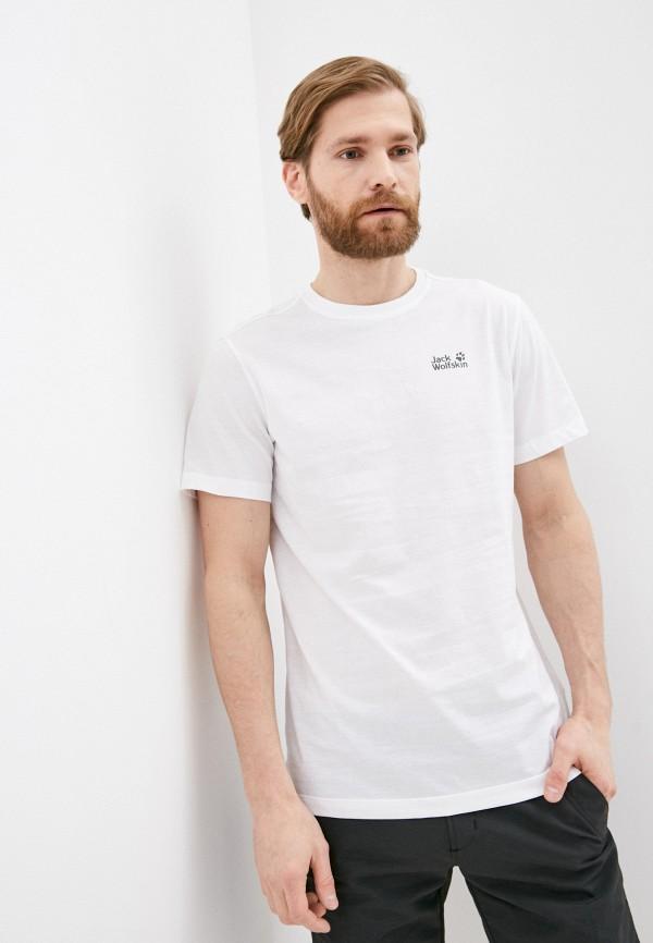 мужская спортивные футболка jack wolfskin, белая