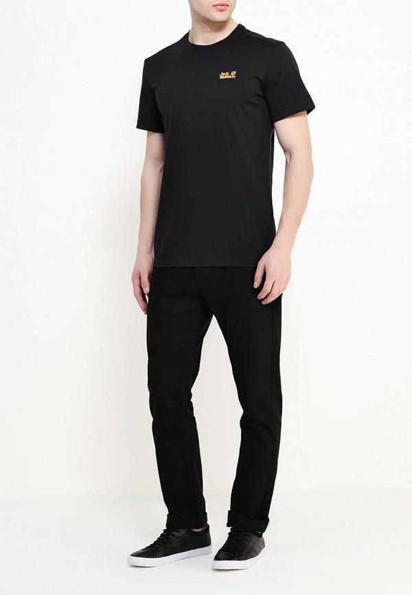 Фото 2 - мужскую футболку Jack Wolfskin черного цвета