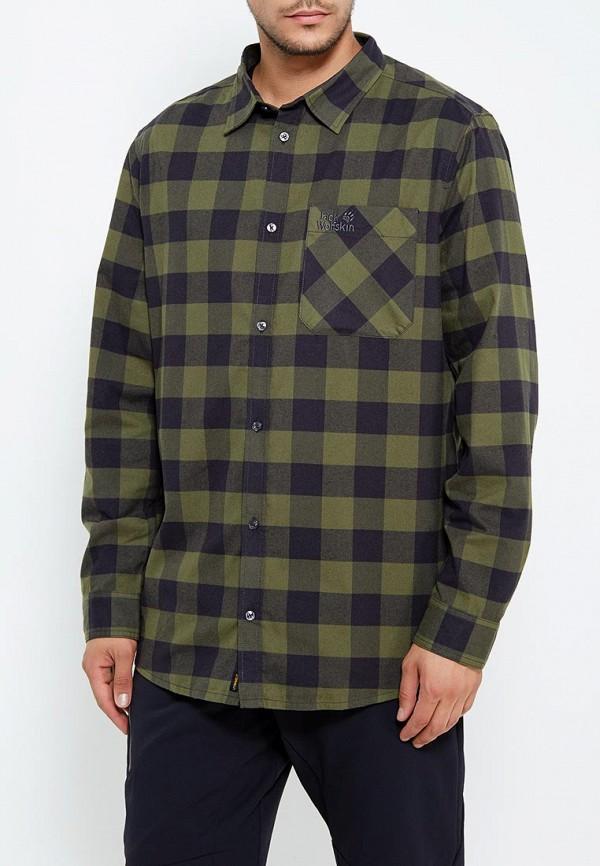 мужская спортивные рубашка jack wolfskin, зеленая