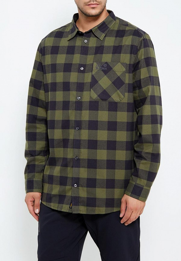 Купить Рубашка Jack Wolfskin, RED RIVER SHIRT, ja021emwhy81, зеленый, Осень-зима 2018/2019