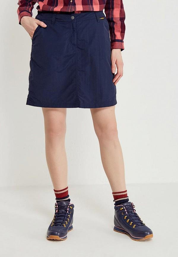 женская спортивные юбка jack wolfskin, синяя