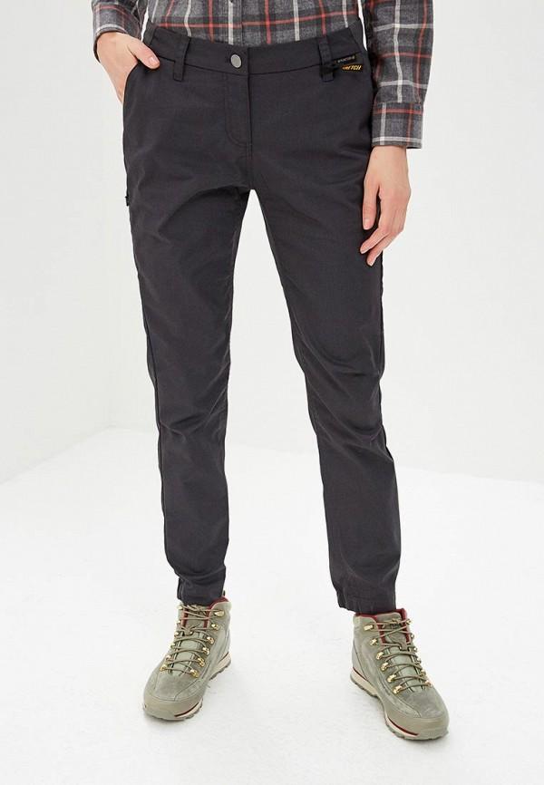 женские спортивные брюки jack wolfskin, серые