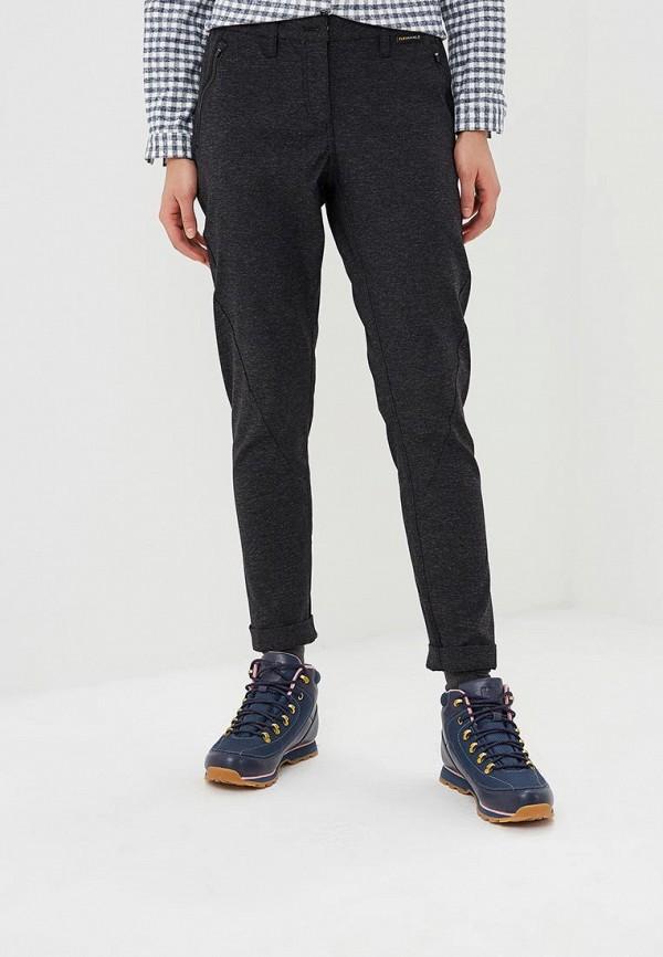 женские повседневные брюки jack wolfskin, черные