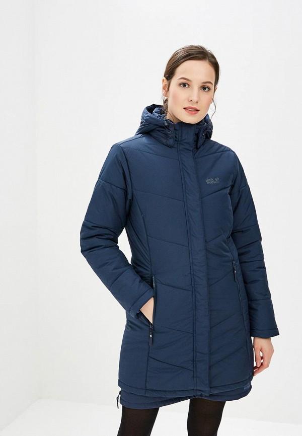 Купить Куртка утепленная Jack Wolfskin, SVALBARD COAT WOMEN, ja021ewcogn0, синий, Осень-зима 2018/2019