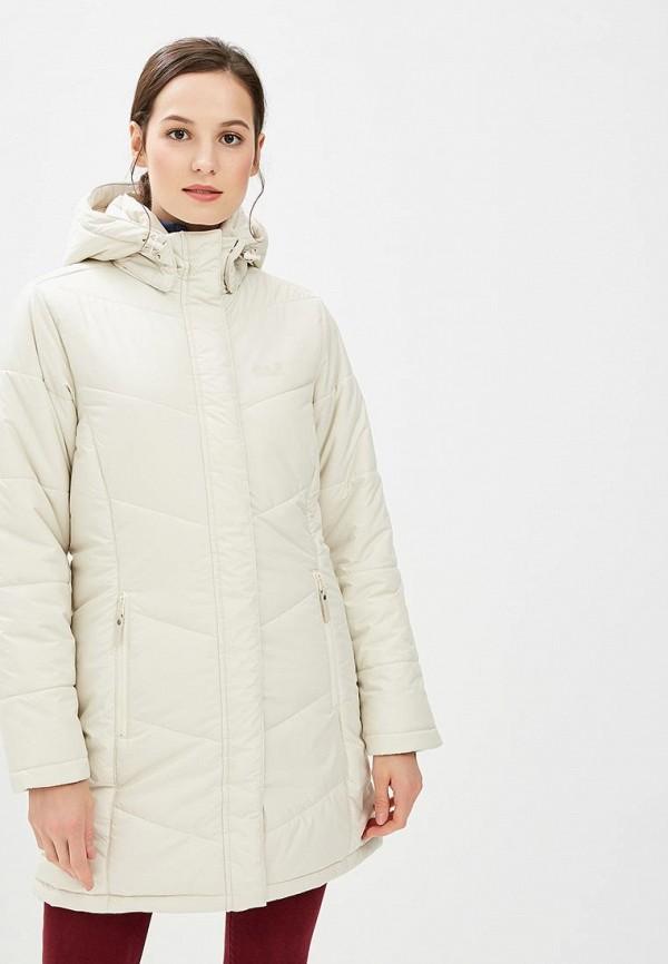 Купить Куртка утепленная Jack Wolfskin, SVALBARD COAT WOMEN, JA021EWCOGN1, бежевый, Осень-зима 2018/2019