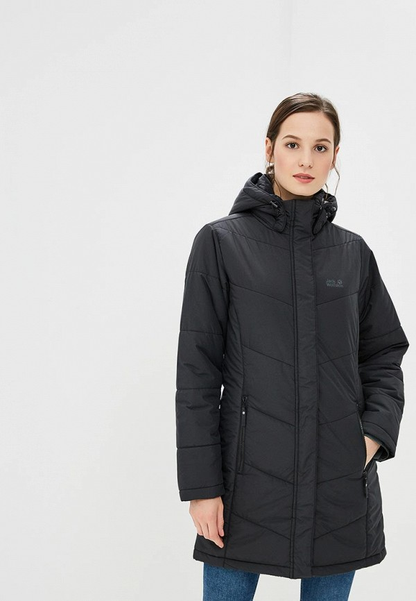 Купить Куртка утепленная Jack Wolfskin, SVALBARD COAT WOMEN, JA021EWCOGN2, черный, Осень-зима 2018/2019